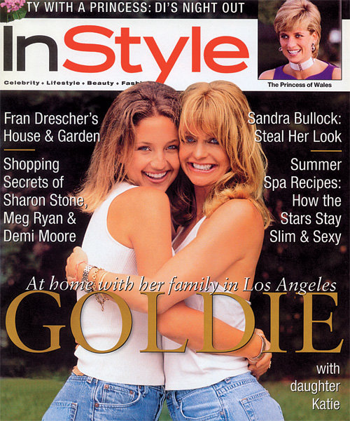 InStyle Covers - August 1996, Goldie Hawn and Kate Hudson