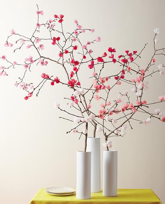 Make it yourself a spring bouquet of paper cherry blossoms paper flowers what youll need mightylinksfo