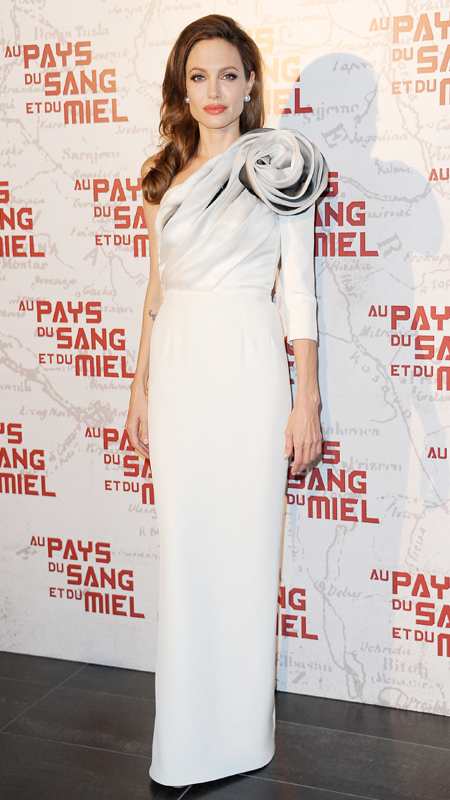 Angelina Jolie attends premiere of  In the Land of Blood and Honey