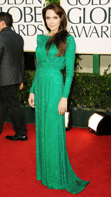 Angelina Jolie attends 2011 Golden Globes