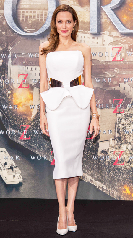 Angelina Jolie attends World War Z premiere