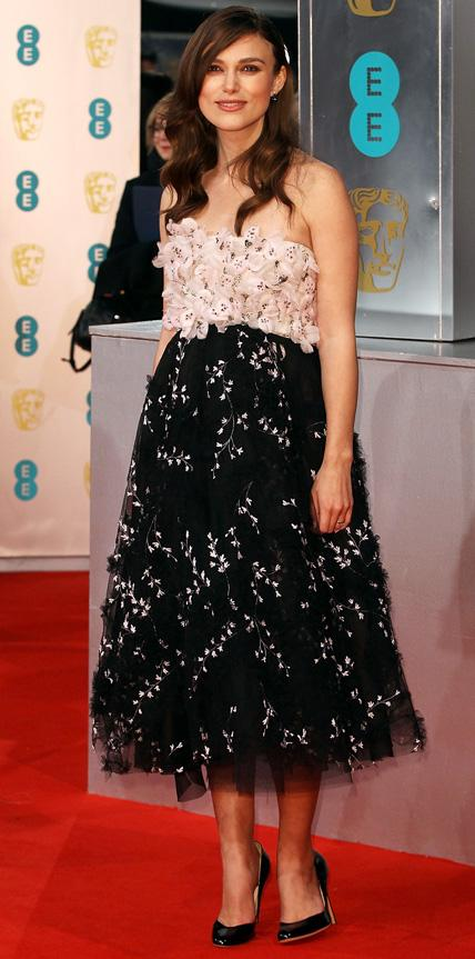 Keira Knightley in Giambattista Valli couture.