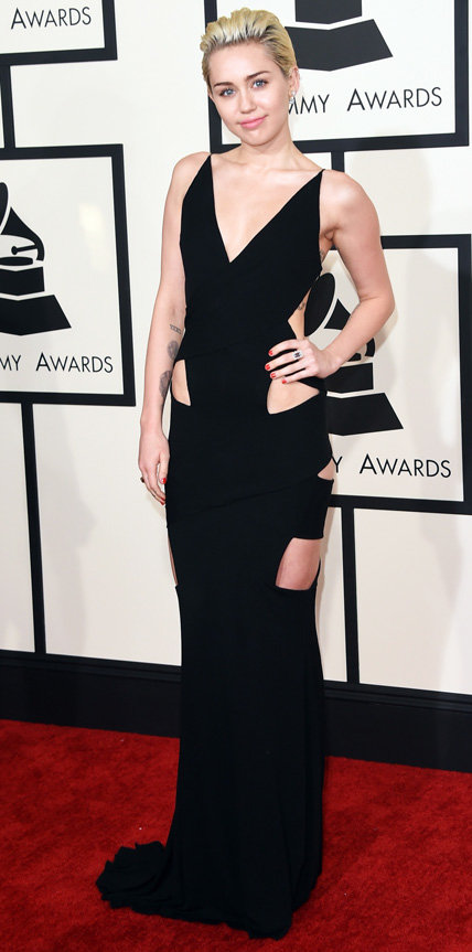 2015 Grammy Arrivals - Miley Cyrus