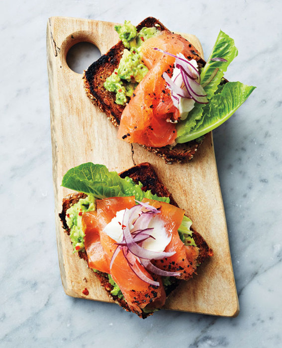 Avocado and Smoked Salmon Tartinettes recipe