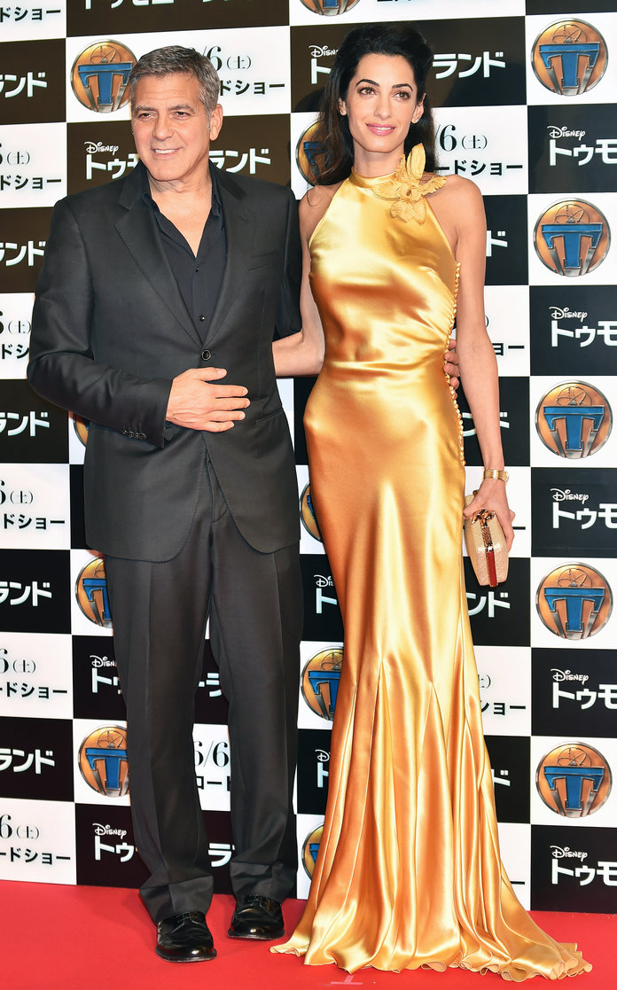 Amal Clooney Formal Dress  Tomorrowland  Premiere In Tokyo