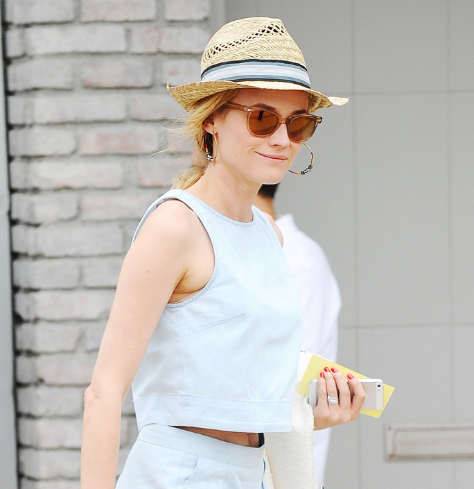 Shop Like a Star: Diane Kruger's Too-Cool Straw Fedora