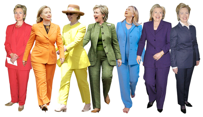 Hillary Clinton Pantsuits Lead
