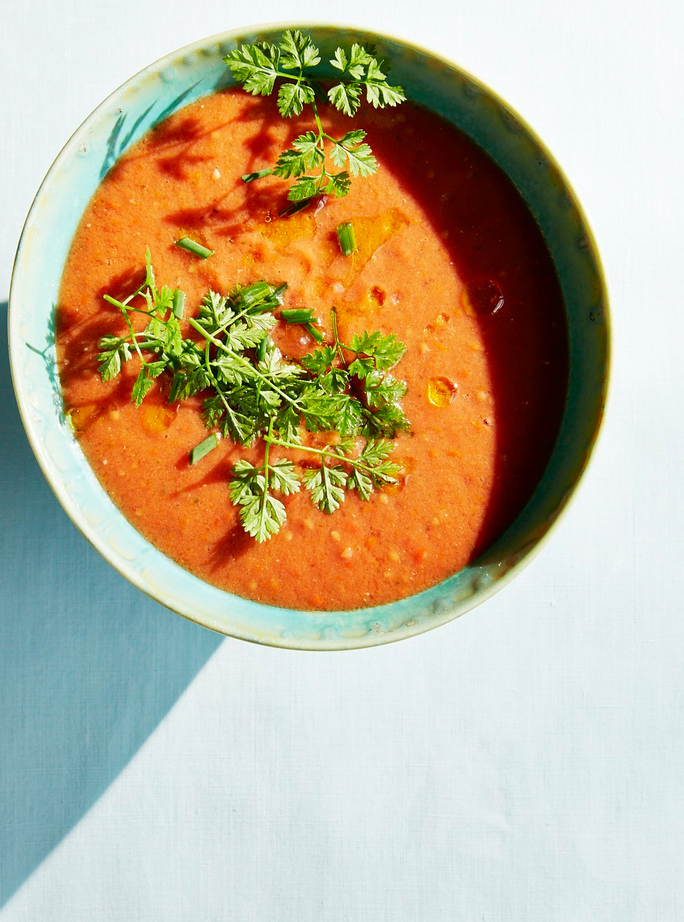 Cool Off with this Refreshing Tomato Watermelon Gazpacho Recipe