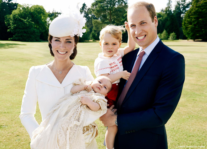 Princess Charlotte Takes Her First Family Portrait