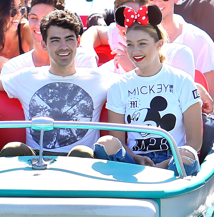 EXCLUSIVE: Joe Jonas and his new girlfriend Gigi Hadid have a date at disneyland