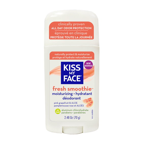 Kiss My Face Fresh Smoothie Moisturizing Deodorants in Pink Grapefruit