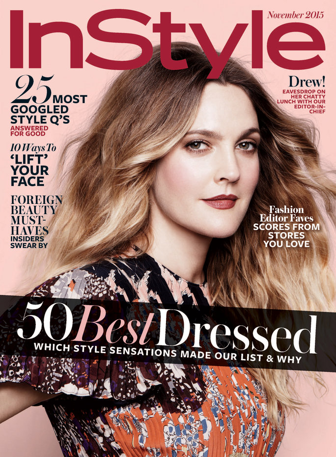 Drew Barrymore InStyle Cover