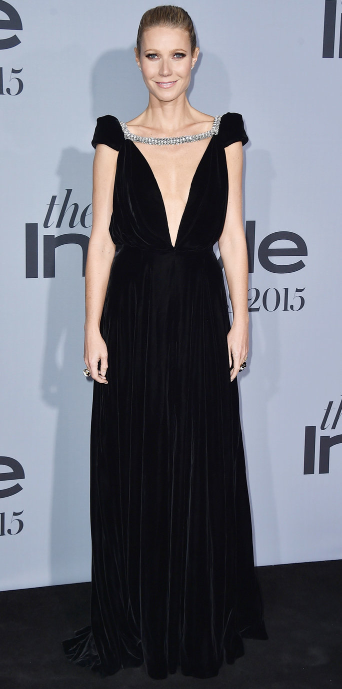 Gwyneth Paltrow arrives at the inaugural InStyle Awards at The Getty Center on Monday, Oct. 26, 2015, in Los Angeles. (Photo by Jordan Strauss/Invision/AP)
