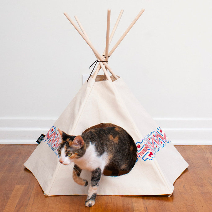 Cat Canvas Teepee
