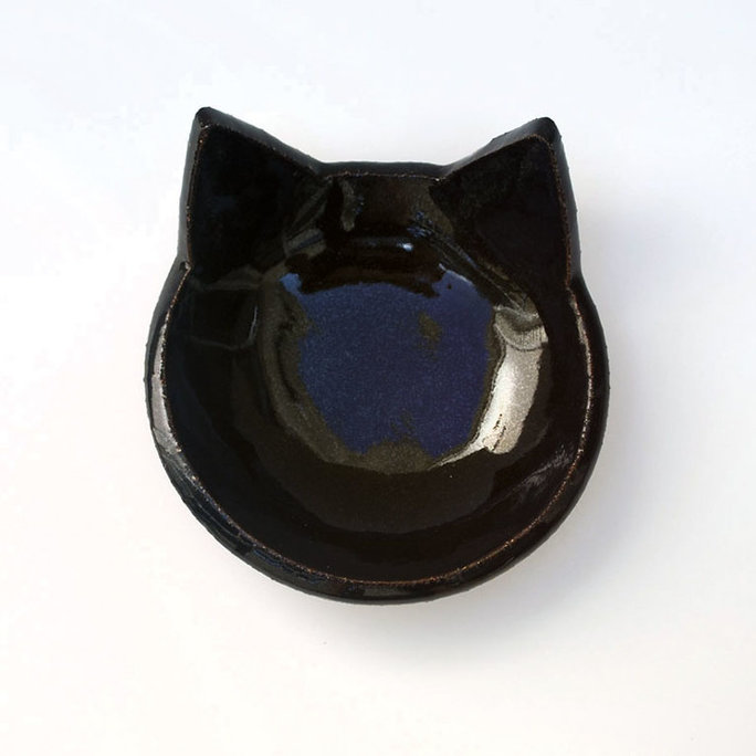 Lauren Sumner Pottery Ceramic Cat Food Bowl