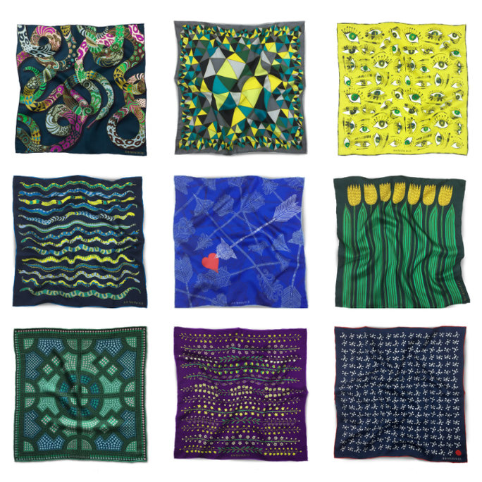 RB MANVILLE POCKET SQUARES