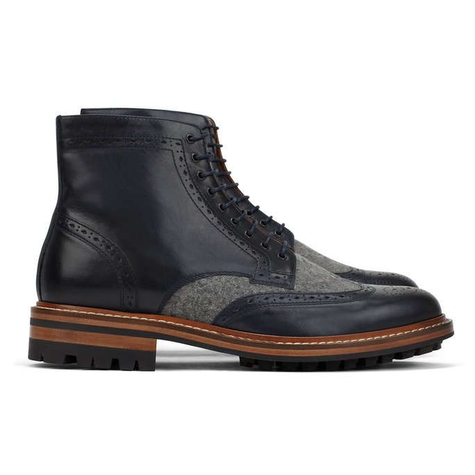 ALDO X MR. B Vacco LEATHER BOOTS