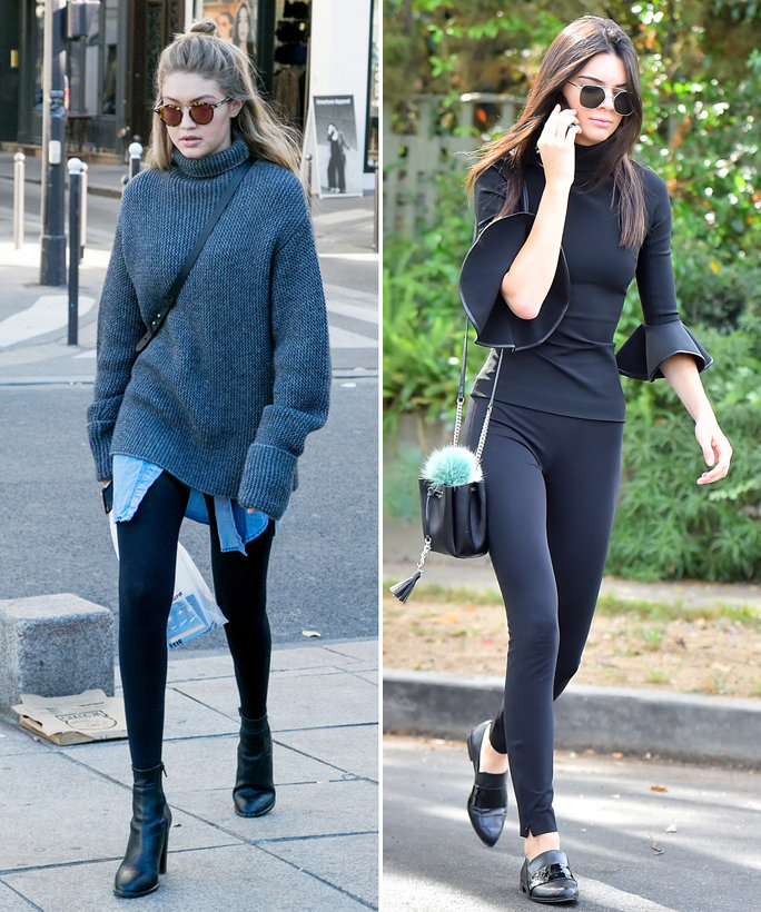 How To Wear Leggings In The Winter Celebrities In