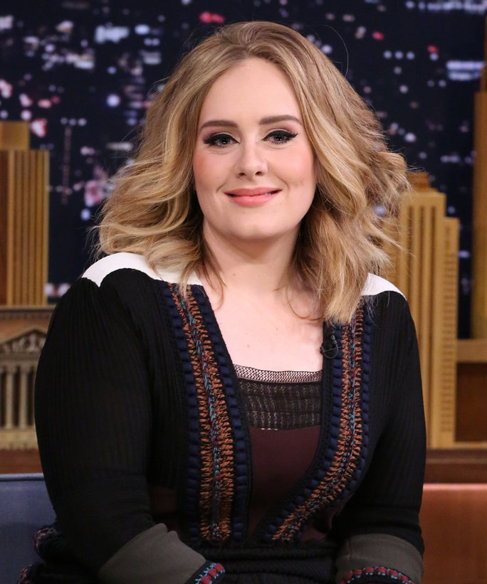 Singer Adele on November 23, 2015 --