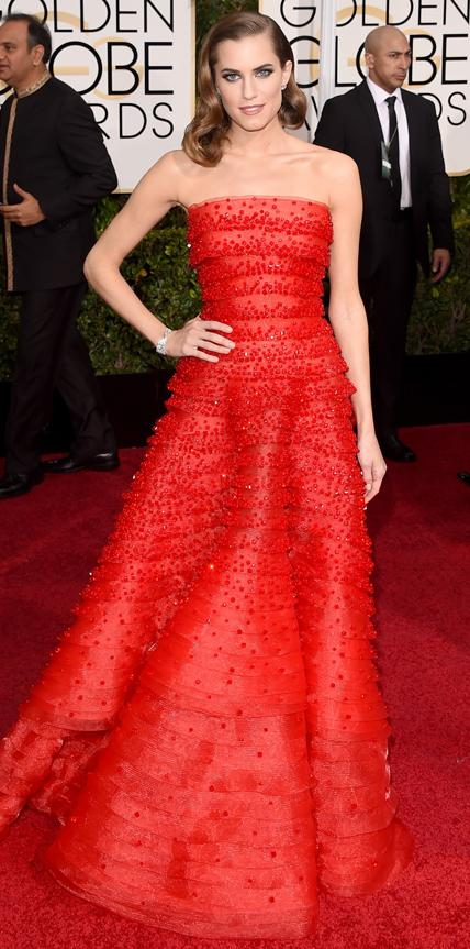 Allison Williams in Armani