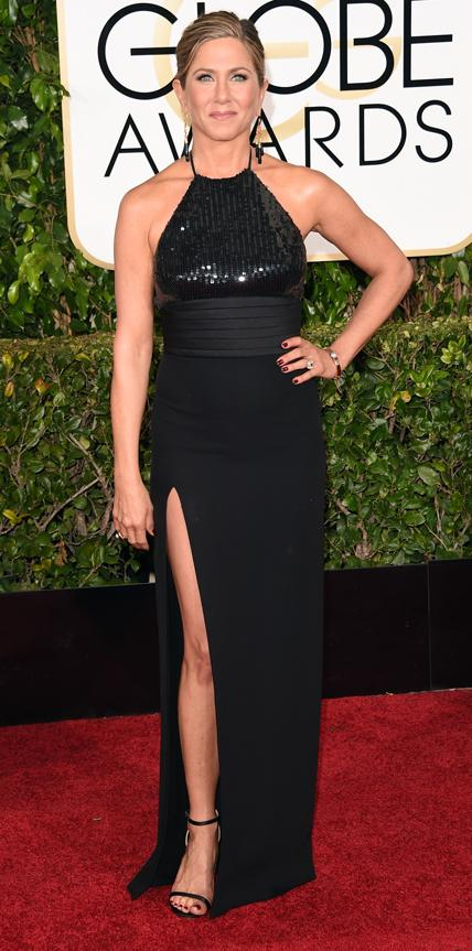 Jennifer Aniston in Saint Laurent