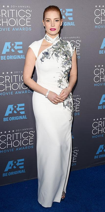 Jessica Chastain in Antonio Berardi