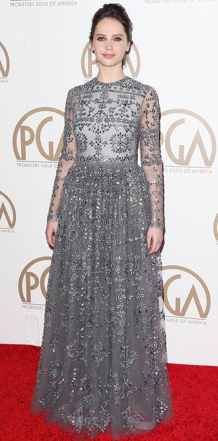 Felicity Jones in Valentino