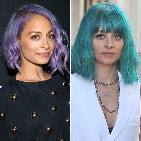 Nicole Richie Debuts a Bold Turquoise Bob