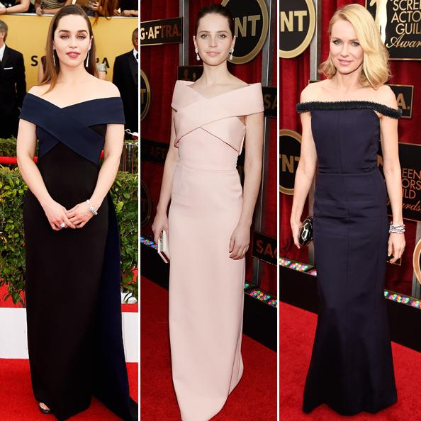 Refreshingly Sexy Off-the-Shoulder Necklines Hit the 2015 SAG Awards Red Carpet