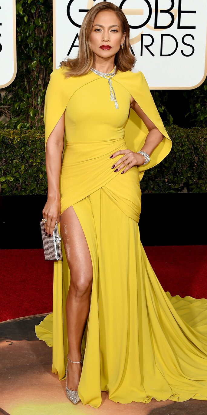 See Jennifer Lopezs Extraordinary Golden Globes Gown From