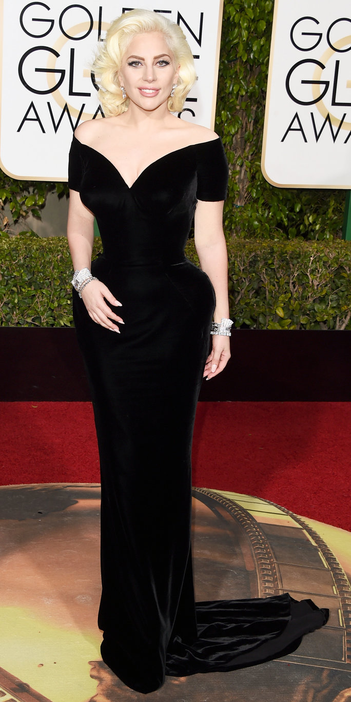 Lady Gaga Channels Marilyn Monroe for Her Golden Globes Red Carpet Debut