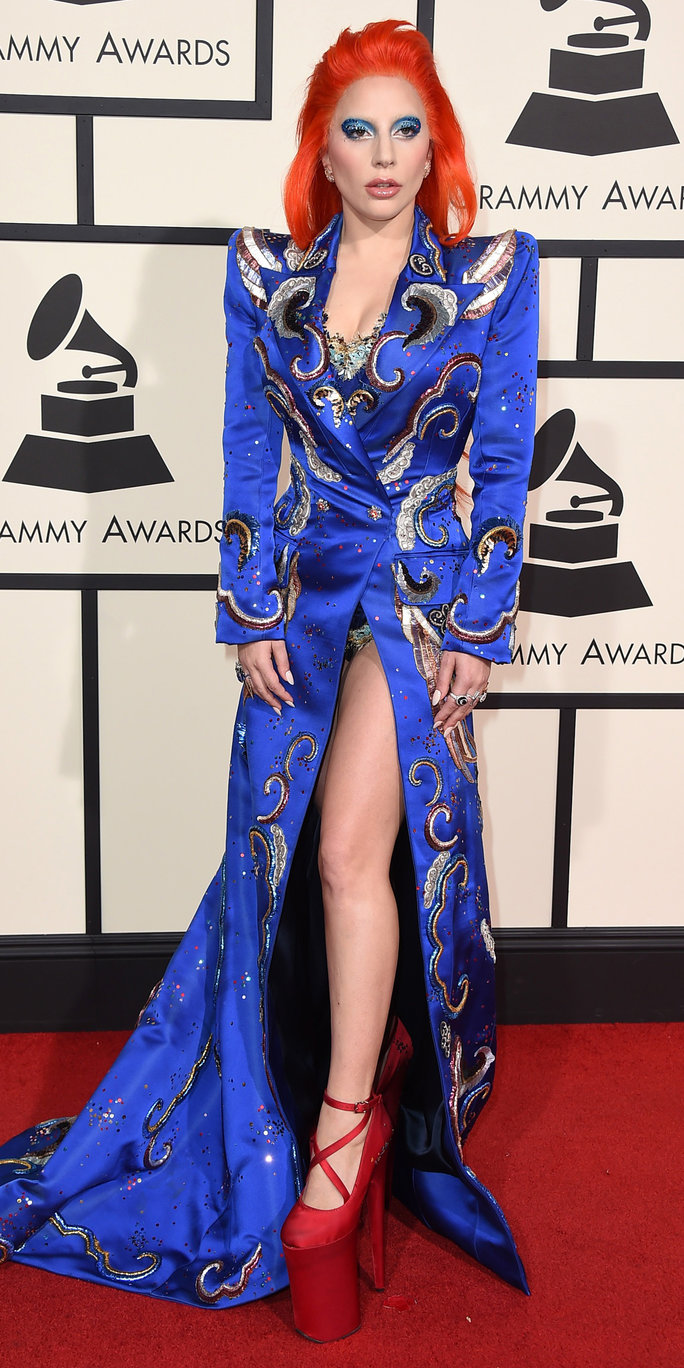 Lady Gaga arrives at the 58th annual Grammy Awards at the Staples Center on Monday, Feb. 15, 2016, in Los Angeles. (Photo by Jordan Strauss/Invision/AP)