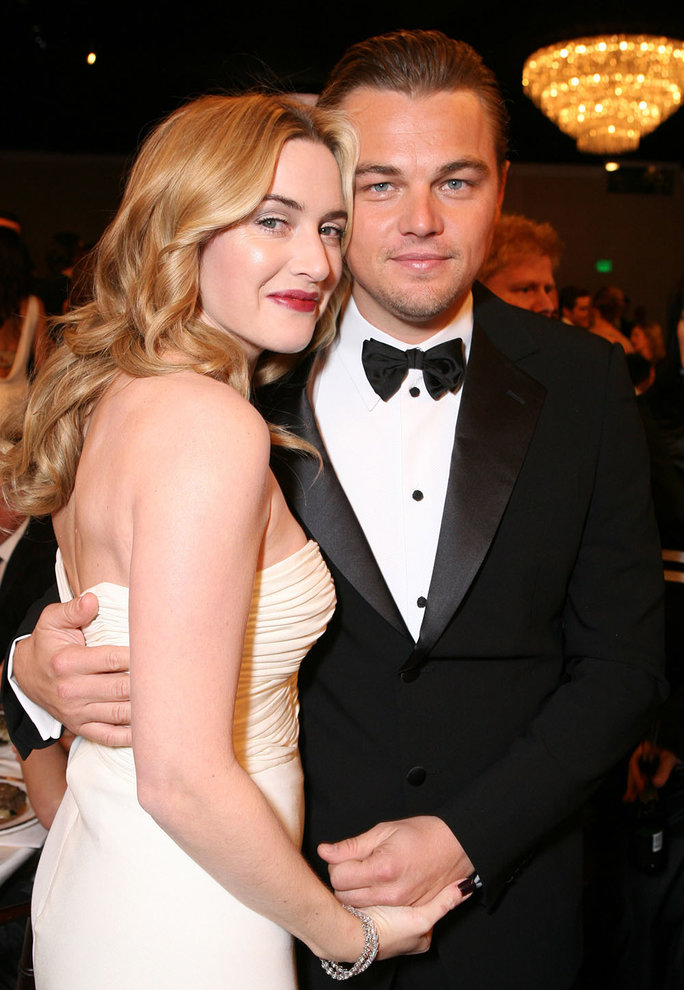 <p>Kate and Leo at the 2007 Golden Globes</p>