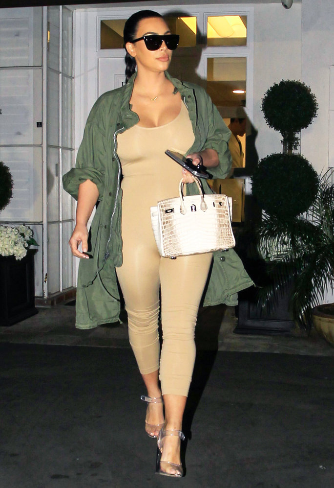 Kim Kardashian West Wears a Nude Unitard While Out in L.A.