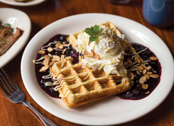 Celebrate National Waffle Day with These Lemon-Blueberry Beauties