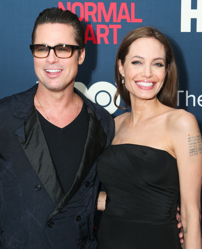 <p>Brad Pitt and Angelina Jolie</p>