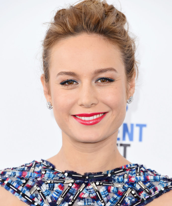 "Brie Larson Reveals Her ""Structurally Sound"" Bangs in Hilarious Throwback Snap"
