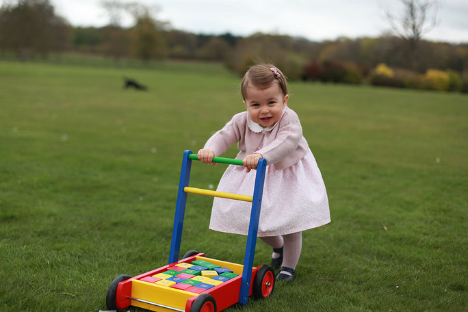Princess Charlotte Plays Outside