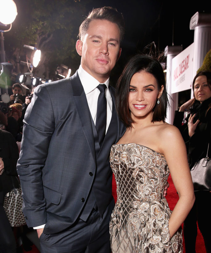 WESTWOOD, CA - FEBRUARY 01:  Actor Channing Tatum and actress Jenna Dewan-Tatum attend Universal Pictures'  Hail, Caesar!  premiere at Regency Village Theatre on February 1, 2016 in Westwood, California.  (Photo by Todd Williamson/Getty Images)