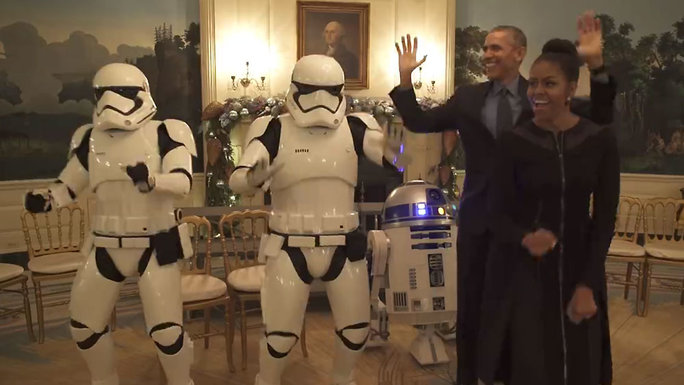 Obamas Dancing with Storm Troopers - Video Lead
