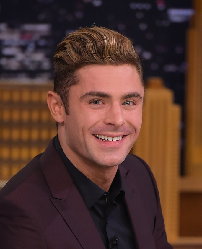 Zac Efron Visits  The Tonight Show Starring Jimmy Fallon  at Rockefeller Center.