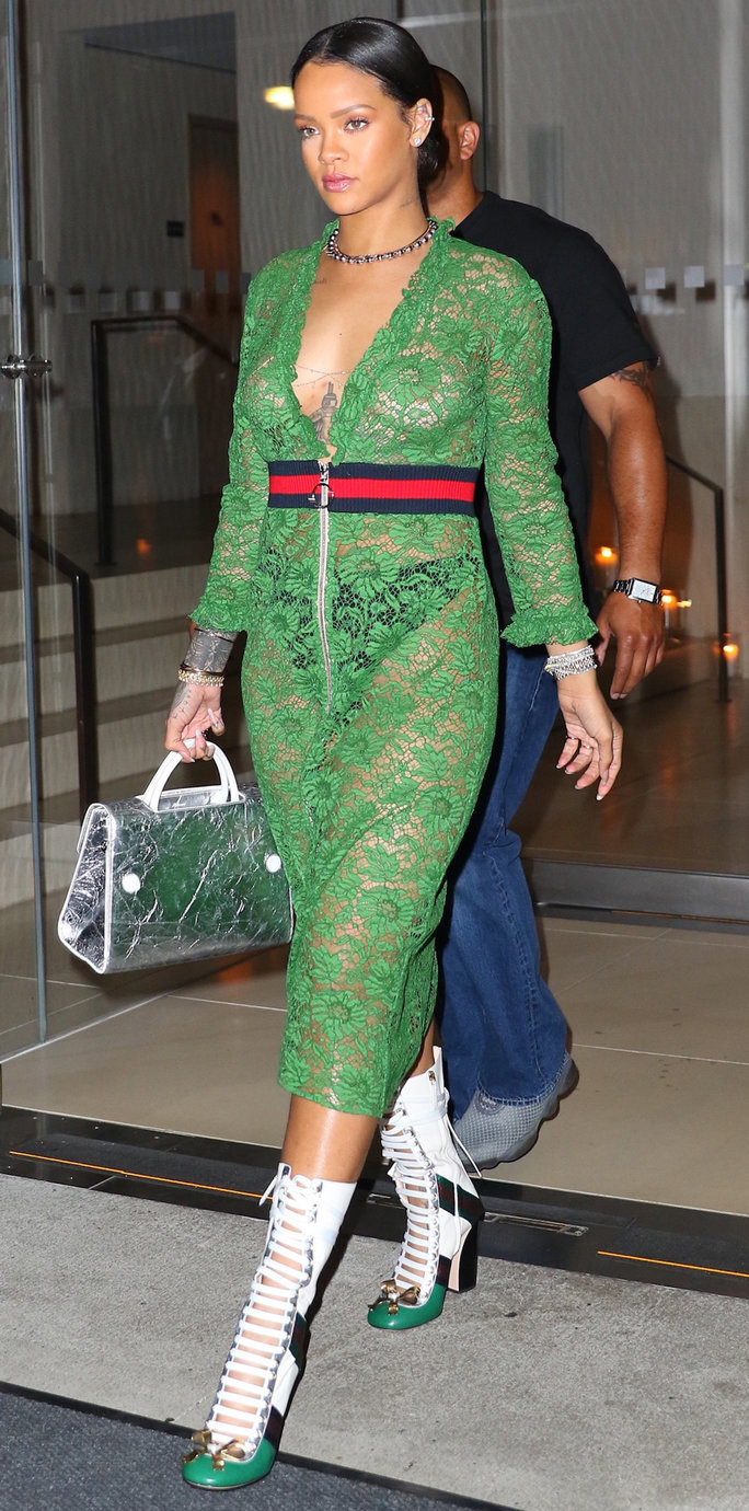 Rihanna Wears a Super Sheer Gucci Dress and We Can't Look Away