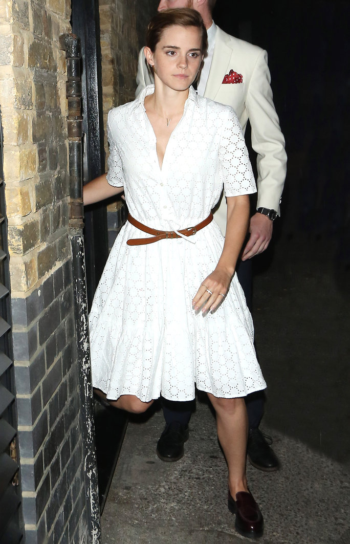 Emma Watson's Eyelet Dress Has Us Planning Our Summer Getaway