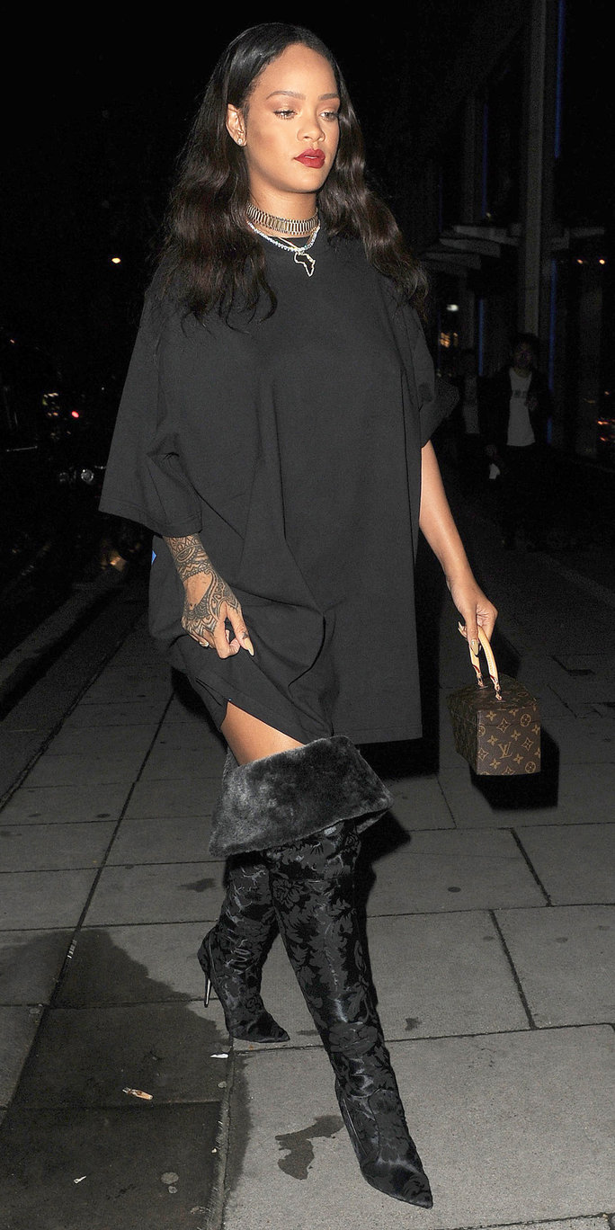 Rihanna S Best Street Style Looks Instyle Com