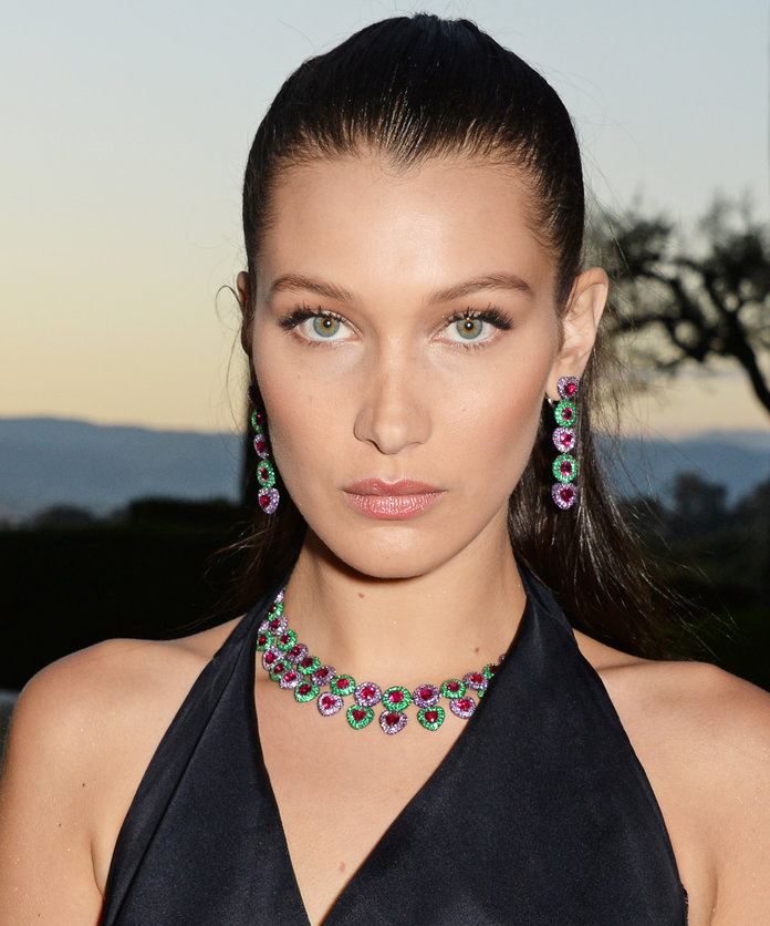 Bella Hadid Smolders in a Sexy Black Bikini on a Tropical Getaway