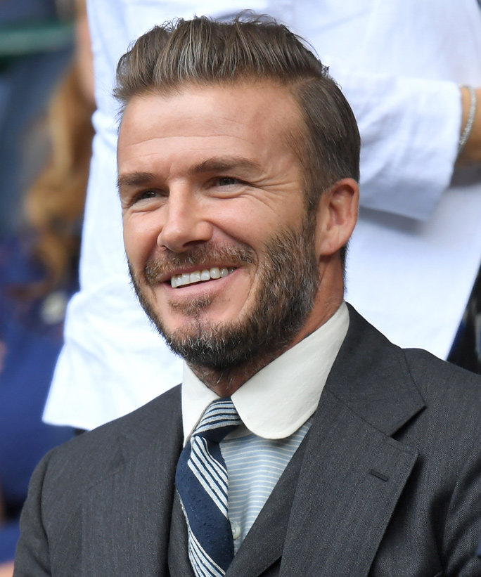 LONDON, ENGLAND - JULY 02:  David Beckham attends day six of the Wimbledon Tennis Championships at Wimbledon on July 02, 2016 in London, England.  (Photo by Karwai Tang/WireImage)