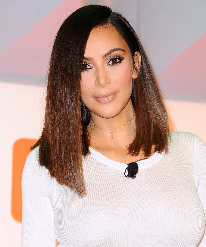 kim kardashian short hairstyles : Kim Kardashian Hair Color Dark Brown Hairs
