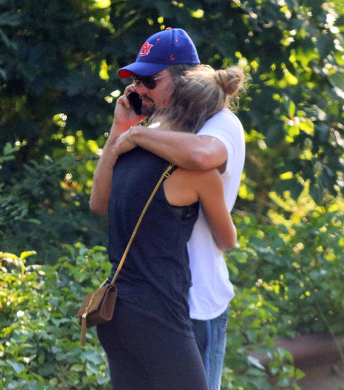 Leonardo DiCaprio Comforts Nina Agdal After Hamptons Fender Bender (They're OK)