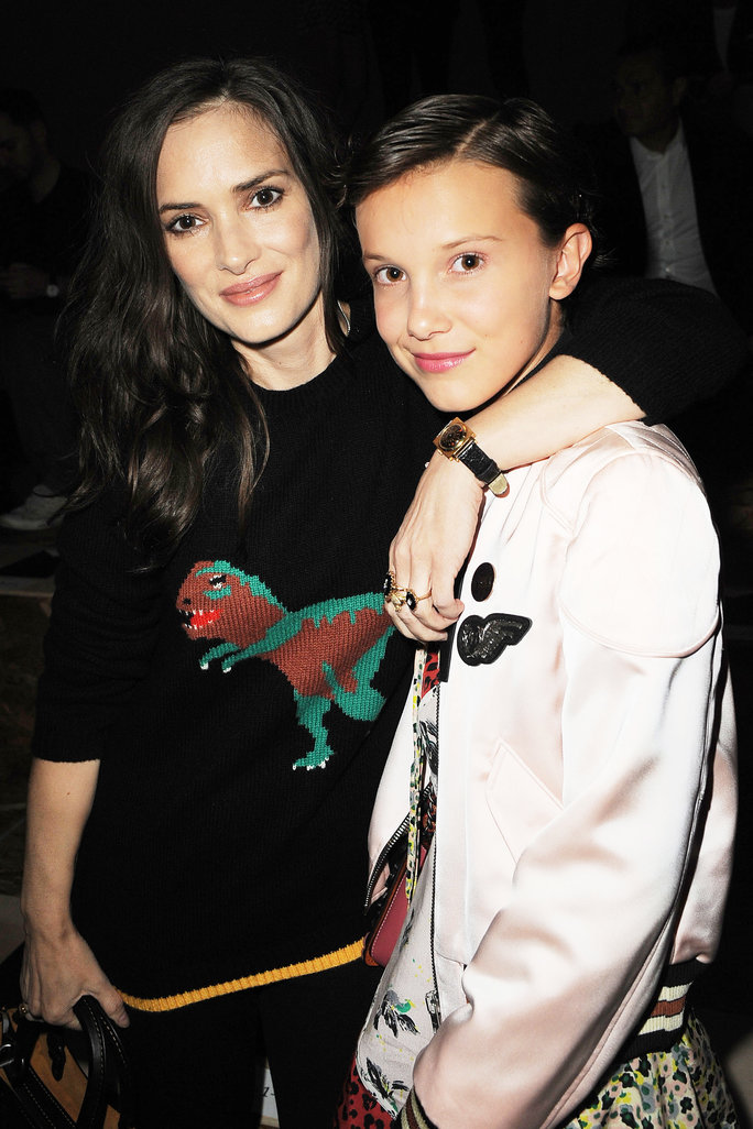 Winona Ryder and Millie Bobby Brown Have a<em>Stranger Things </em>Reunionat theCoach Spring 2017 Show
