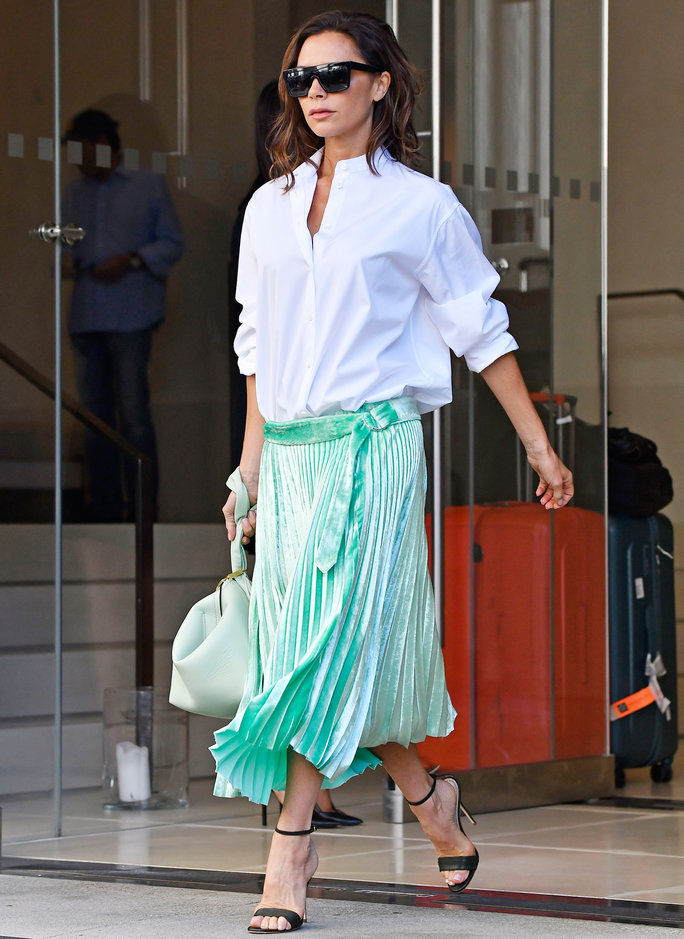 Victoria Beckham Wears the Same Bag, Heels, and Sunglasses Two Days in a Row